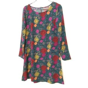 American Apparel floral long sleve dress size M